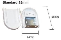 Držák rolety pro mechanizmus 25mm.