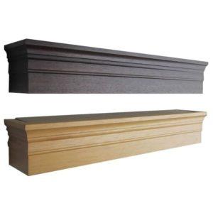Dřevěné garnýže s krycím čelem Deko