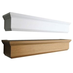 Dřevěné garnýže s krycím čelem Hero