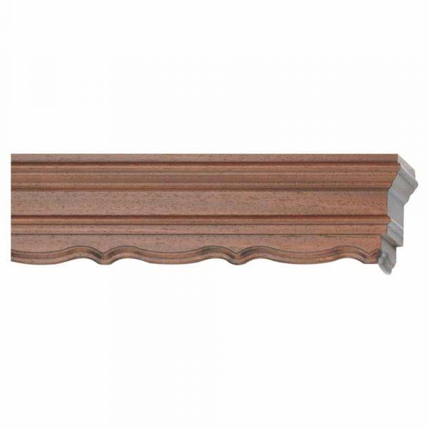 Dřevěné garnýže s krycím čelem Karla ořech