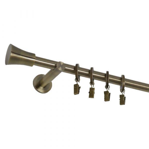 Kovové garnýže s koncovkou Cylinder a tichými kroužky