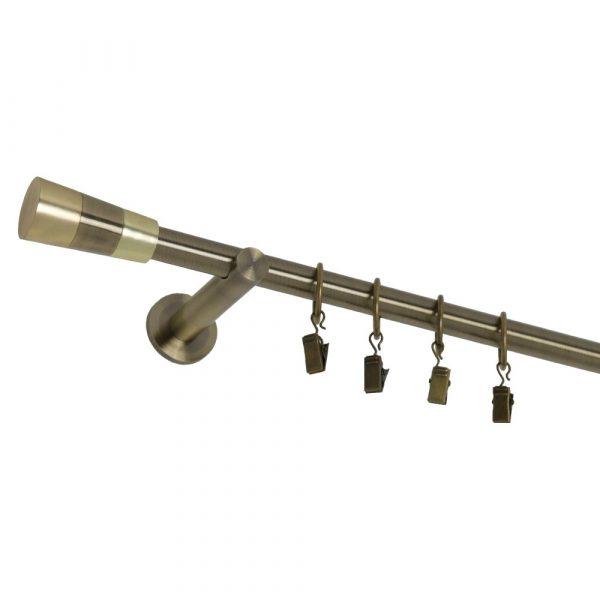 Kovové garnýže s koncovkou Fénix a kroužky