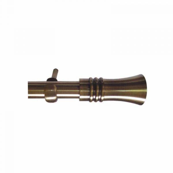 Kovové garnýže Italie průměr 25mm v barvě antická mosaz s koncovkou Capri