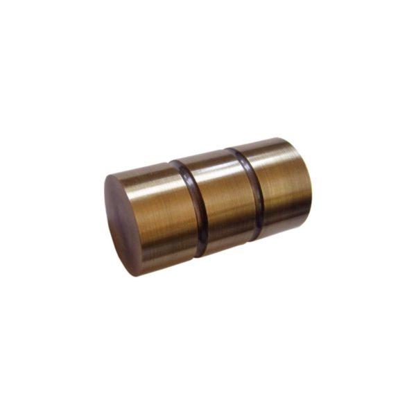 Kovové garnýže Italie průměr 25mm v barvě antická mosaz s koncovkou Prato