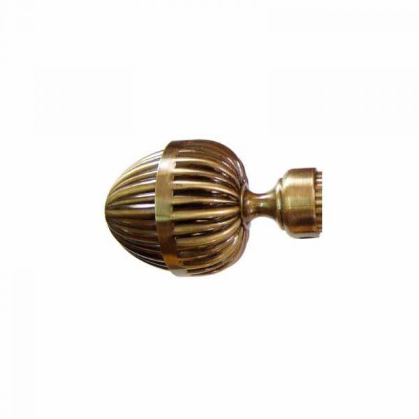 Kovové garnýže IT průměr 25mm v barvě antická mosaz s koncovkou Venezia.