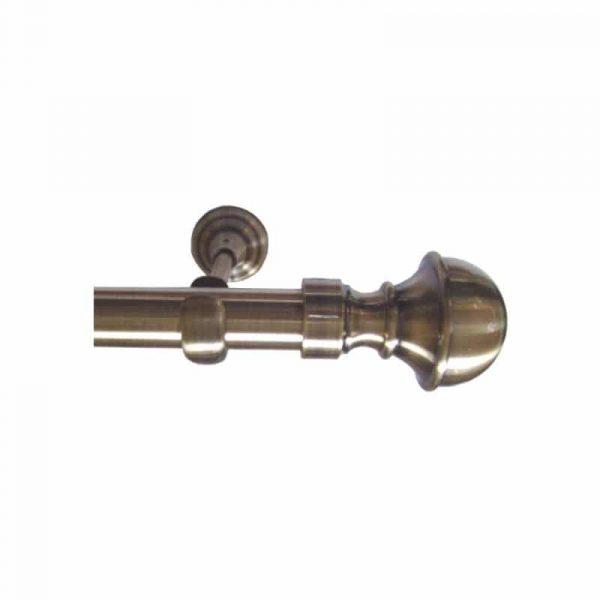 Kovové garnýže Italie průměr 25mm v barvě antická mosaz s koncovkou Latina.