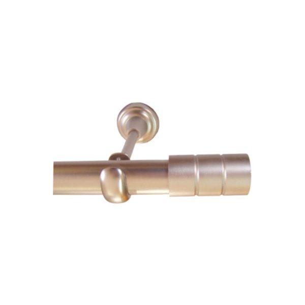 Kovové garnýže Italie průměr 25mm v barvě matný chrom s koncovkou Prato