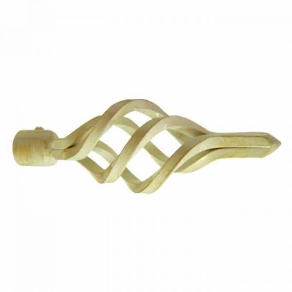 Koncovka pro garnýže průměr 16mm Azur malý bílo/zlatá