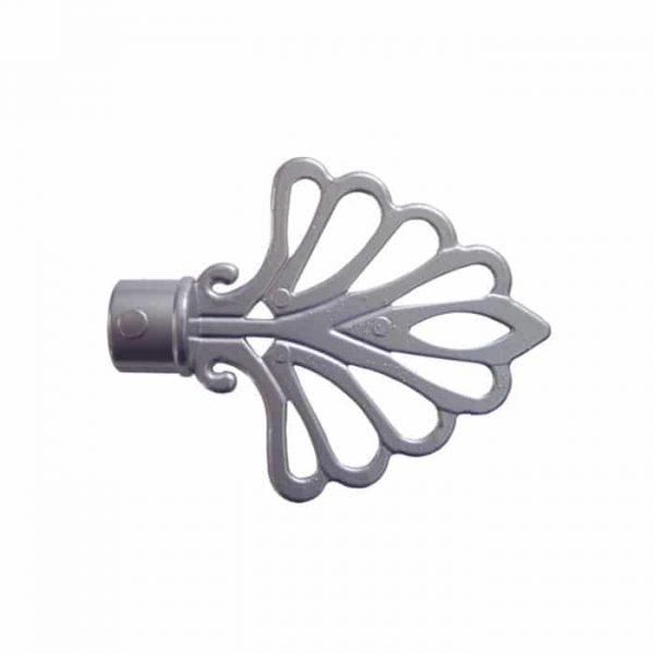 Koncovka Modena pro garnýže průměr 16mm v barvě stříbrná mat