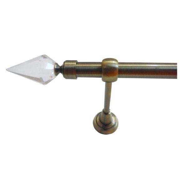 Garnýže kovové OP antická mosaz s koncovkou Orfeus