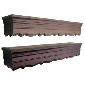 Dřevěné garnýže s krycím čelem Vela