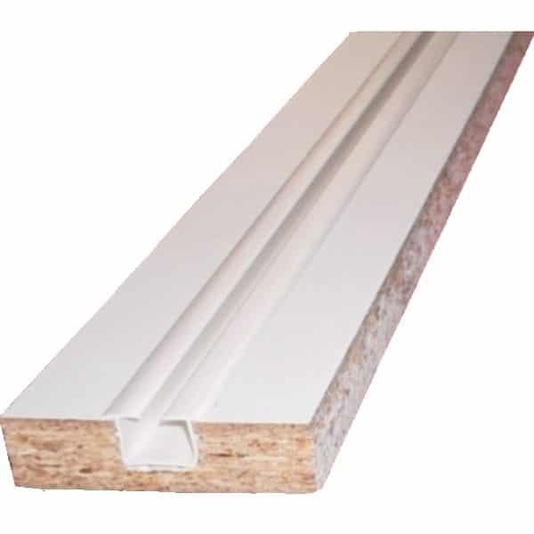 Dřevěné jednokolejnice s plastovou drážkou.