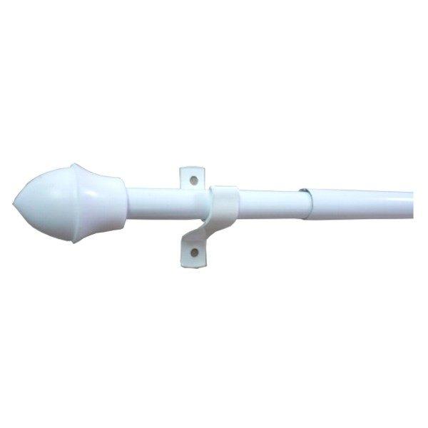 Kavárenská tyč - mini garnýž průměr 12mm v barvě bílé.