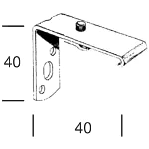 Stěnový držák pro Záclonové kolejnice AL320.