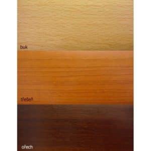Krycí čelo pro záclonové kolejnice CM v imitaci dřeva