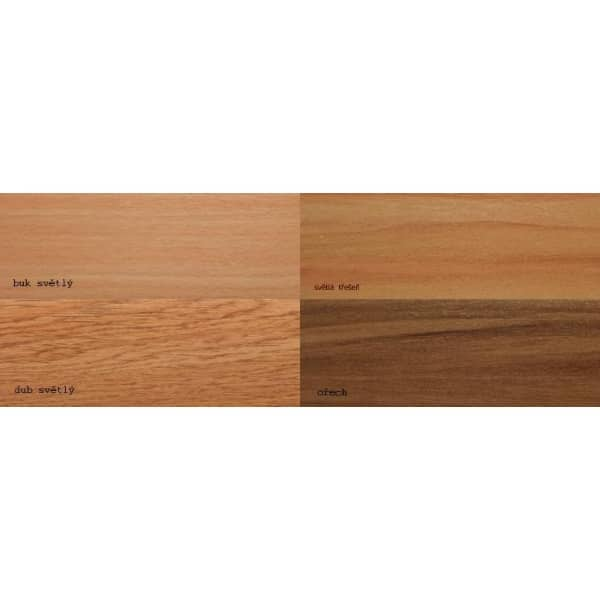 Krycí čelo pro záclonové kolejnice SF v imitaci dřeva