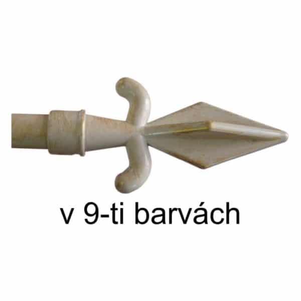 Koncovka Hrot pro garnýže průměr 16mm v barvě bílo zlatá