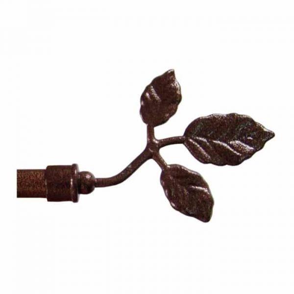 Kovová koncovka Toskana pro garnýže průměr 16mm v barvě měď tepaná