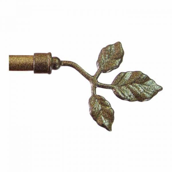 Kovová koncovka Toskana pro garnýže průměr 16mm v barvě mosaz tepaná