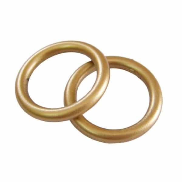 Záclonový kroužek č.121 na garnýže zlatý mat