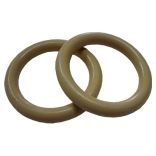 Plastový kroužek na garnýže béžový