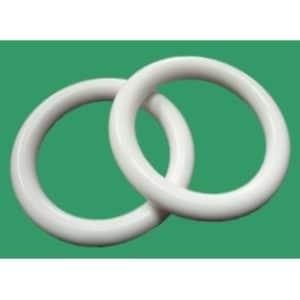 Plastový kroužek na garnýže bílý