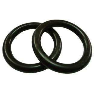 Plastový kroužek na garnýže černý
