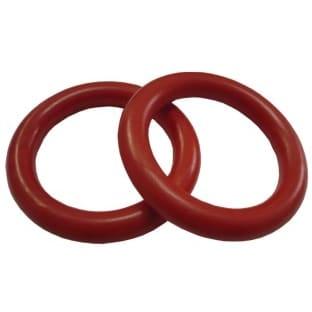 Plastový kroužek na garnýže červený
