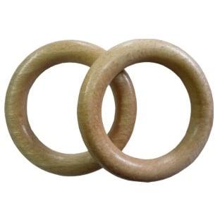 Dřevěný kroužek na garnýže světlý dub