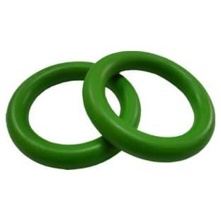 Plastový kroužek na garnýže zelený