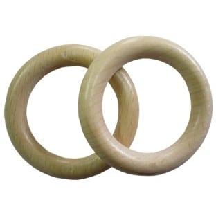 Dřevěný kroužek na garnýže přírodní