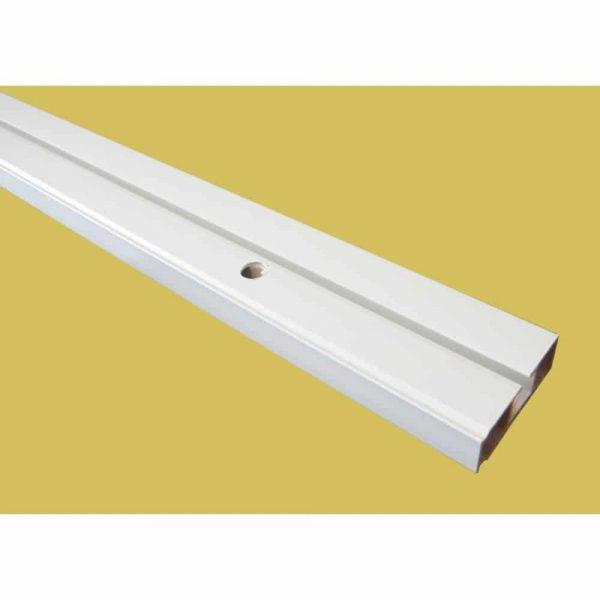 Záclonová plastová jednokolejnice CM pro montáž na strop.