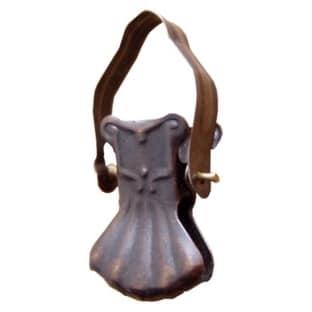 Žabka 01 kovová bronzová na kroužek garnýže