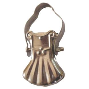 Žabka 01 kovová stříbrná na kroužek garnýže