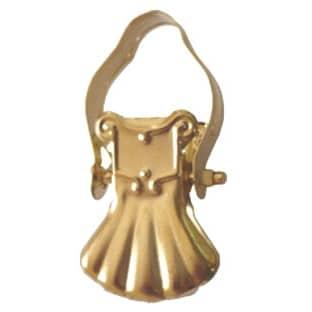 Žabka 01 kovová zlatá na kroužek garnýže