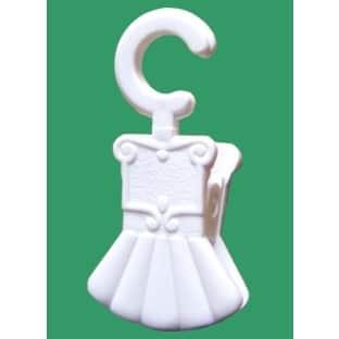 Žabka PVC bílá na kroužek garnýže