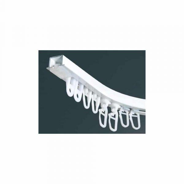 Záclonová kolejnice AL210 v barvě bílé k zafrézování nebo montáži do sádrokartonu.