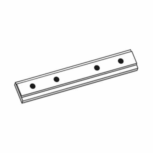 Spojka záclonové kolejnice AL150 pro snadné prodloužení délky.