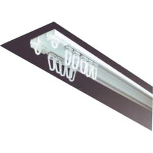 Záclonová dvoukolejnice AL092 pro montáž na strop.