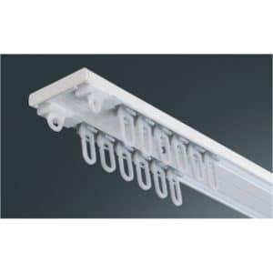 Záclonová hliníková dvoukolejnice AL351 M2 pro montáž na strop.