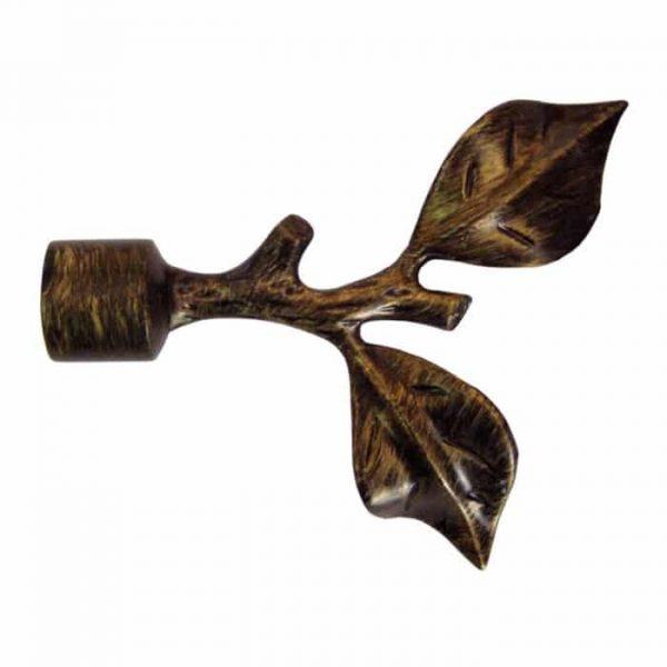 Koncovka Větvička pro garnýže průměr 16mm v barvě černo/zlatá