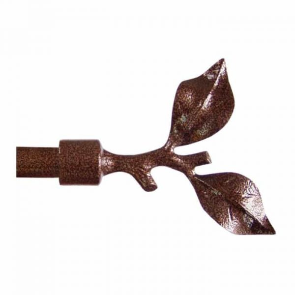 Koncovka Větvička pro garnýže průměr 16mm v barvě měď tepaná