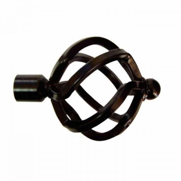 Koncovka Arezzo pro garnýže průměr 16mm v barvě černá