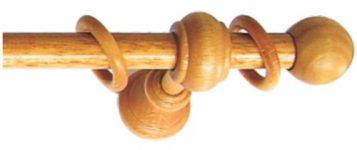Dřevěné garnýže průměr 20mm v barvě třešeň v délce do 4 metrů v jednom kuse.
