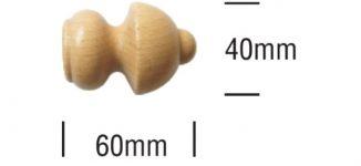 Dřevěné garnýže průměr 20mm světlé