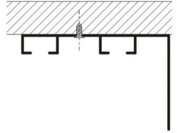 Kolejnice AL094 montáž na strop