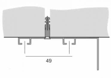 Kolejnice AL094B montáž na strop