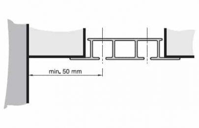 Záclonová kolejnice AL325 montáž zavěšením