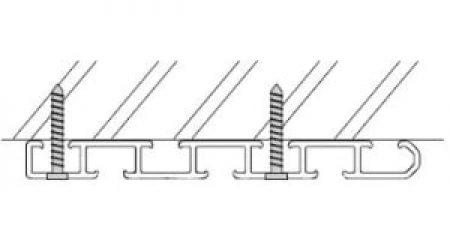 Záclonové trojkolejnice AL380 montáž na strop