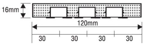 Dřevěné trojkolejnice s kovovou drážkou
